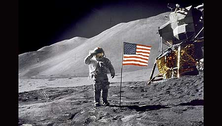 Forty years ago July 20th, Neil Armstrong, Apollo 11 Commander salutes on the surface of the Moon. - Click Here To View digitally enhanced and restored video from NASA!
