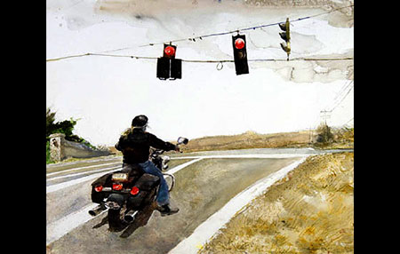 Andrew Wyeth's latest painting, Stop, watercolor, 2008 - Click Here and visit his Website.