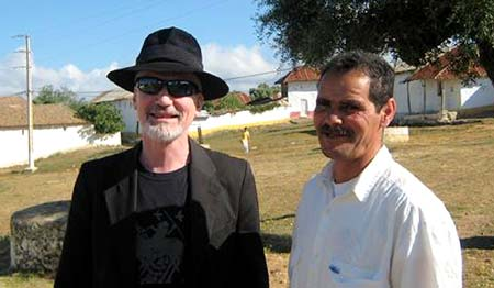 Michael Dean Odin Pollock with Muhamed El Attar in the village of Joujouka 2009. - Michael weighs in after his visit to Joujouka to celebrate the Boujeloud / Pan rite with his son, Marlon Pollock and the Master Musicians of Joujouka. - Click Here To Read His Story!