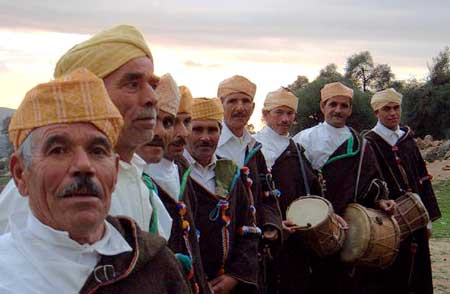 The Master Musicians of Joujouka - The Brian Jones 40th Anniversary Festival - Click Here To Learn More About this wonderous celebration of Music and Spirit! - Photo by Frank Rynne.