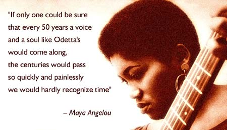 "The Rev. Martin Luther King, Jr. called her ""the Queen of American Folk Music"" One of the most celebrated figures in music, singer, songstress and Civil Rights champion, Odetta. - Click Here To Learn More About this true American treasure."