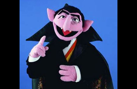 Count von Count (writer Norman Stiles) Sesame Street 40th Anniversary Greeting! - For Best Effect, Recite in your best Transylvania Talk! - Click Here To Learn More About Norman Stiles!
