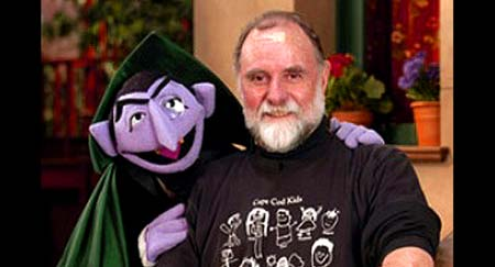 Count von Count with Seame Street Muppeteer, Jerry Nelson - Click Here To Learn More About Jerry Nelson!