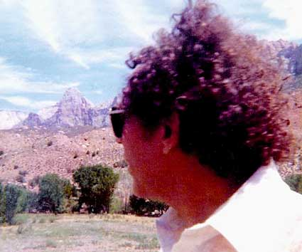 Al in Zion Park, Utah, 1980 - Photo by Zoe Artemis -